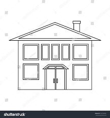 house outline house icon outline style isolated on stock illustration 522795964