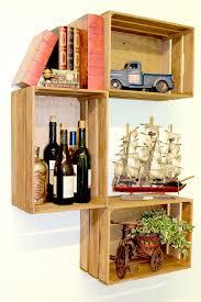 quickway imports mora wooden crate accent shelf u0026 reviews wayfair