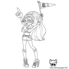 print monster ghoulia yelps coloring pages 2 color