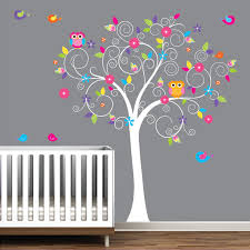 stickers arbre chambre b stickers muraux enfant b cr che arbre mur sticker mural autocollant