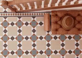 Victorian Mosaic Floor Tiles Indoor Tile Floor Porcelain Stoneware Victorian Pattern