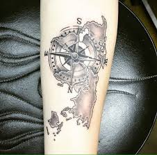 olio tattoo compass tattoo by amir from dr ink tattoos myrtle