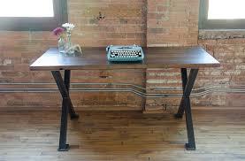 modern reclaimed wood furniture industrial reclaimed wood desk