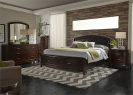buy avalon queen leather headboard with storage footboard bed by