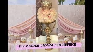 crown centerpieces diy princess baby shower party centerpiece
