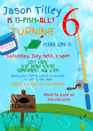 First Birthday Invitation Cards For Boys Printable Fishing Themed Birthday Invitation Gone Fishing Kid U0027s