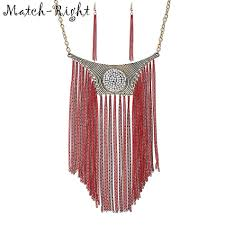 necklace women vintage images Match right vintage long tassel necklaces pendants rhinestone jpg
