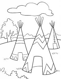 teepee coloring pages tee clipart clipart kid tipi coloring