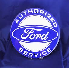 vintage jeep logo ford authorized service blue logo new metal tin sign round 12