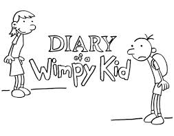diary of a wimpy kid coloring pages kids coloring