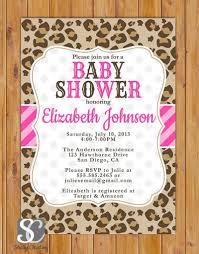 cheetah print baby shower invitations u2013 frenchkitten net