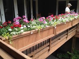 porch rail flower planters