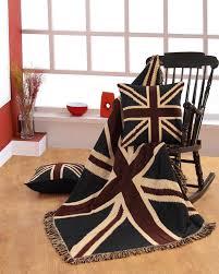 jacquard union jack cushion cover british flag tapestry homescapes