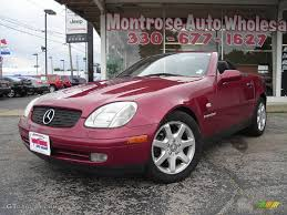 jeep mercedes red 1999 firemist red metallic mercedes benz slk 230 kompressor