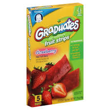graduates snacks graduates for toddlers fruit strips real fruit bars strawberry 5