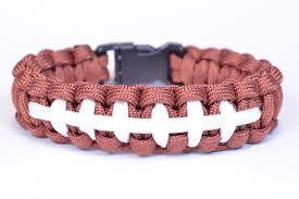 themed bracelets make a football themed paracord survival bracelet boredparacord