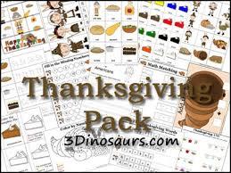 free preschool worksheets thanksgiving printable sets free