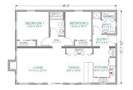 bedroom ranch floor plans house open concept simple
