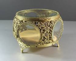 glass wedding rings matson beveled glass ormolu jewelry casket trinket