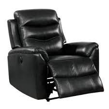 Black Leather Recliner Black Leather Recliners You Ll Wayfair