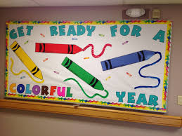 crayon bulletin board for back to bulletin boards