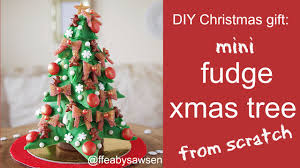 Christmas Tree Advent Diy Christmas Gift Idea Mini Fudge Tree Advent Calendar 2015
