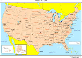 united states map with popular cities editable us map united states map with states and capitals