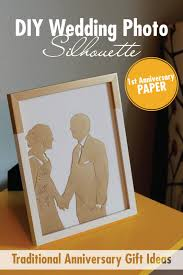 paper anniversary gift ideas diy wedding picture silhouette