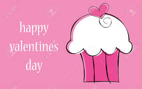 happy valentine s day cupcake royalty free cliparts vectors and