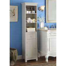 bathroom fascinating white free standing bathroom storage tower
