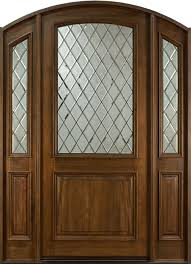 Doors Entry Door In Stock Single With 2 Sidelites Solid Wood With
