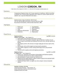 nursing resumes templates best registered resume exle livecareer