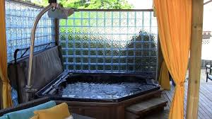 outdoor tub spa rainbow landscaping and design toronto