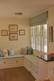 White Roman Shade Kitchen Chic Kitchen Decor Idea Using White Kitchen Cabinet And