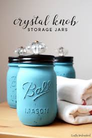 diy jars with decorative knobs crafts unleashed