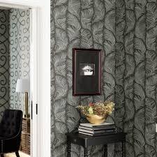Dark Turquoise Living Room by Wallpaper Grace Dark Turquoise Sandberg Wallpaper