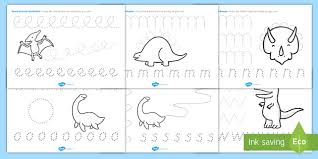 dinosaur pencil control activity sheets dinosaurs dinosaur