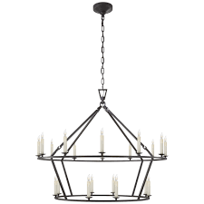 Iron Ring Chandelier Darlana Large Two Tiered Ring Chandelier Circa Lighting
