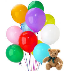teddy in a balloon gift new baby balloons dozen balloons a