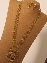 gold long necklace set images Designer golden long necklace set emporia jewels jpg