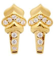 earrings in grt studded j type gold earrings grt jewellers bengaluru id