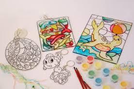 sun catcher glass deco kids craft ideas gigglingkidscraft