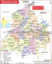 Pennsylvania Highway Map by Location Map Of Terrorists Attack Pathankot Air Force Station In