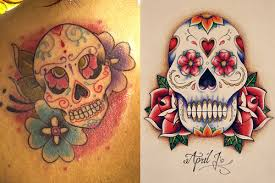 sugar skull tattoos designs ideas meaning of sugar skull