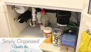 Organized Under The Kitchen Sink Simply Organized - Simply kitchen sinks