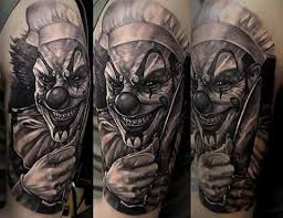 194 best scary clown tattoos images on pinterest scary clowns