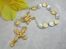 decade rosary matteo miraculous medal decade rosary two tone ghirelli rosaries