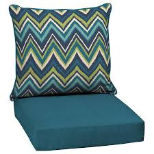 Barstool Cushions Garden Treasures Blue Flame Stitch Blue Flame Stitch Deep Seat