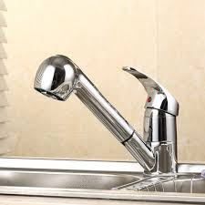 Kitchen Tap Faucet Basin Faucets Sink Mixer Tap Single Spray Handle Polished Chrome
