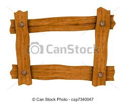 wooden board frame one frame made with four wooden boards